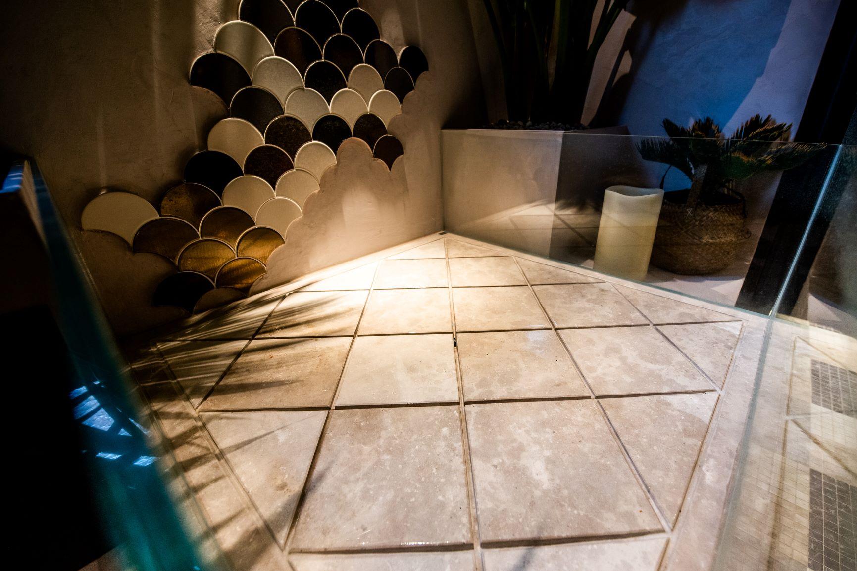 Plato de ducha de piedra